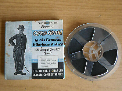 Standard 8mm silent 1X200 THE ADVENTURER. Charlie Chaplin classic comedy.