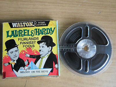 Super 8mm sound 1X200 MELODY ON THE MOVE. Laurel and Hardy.