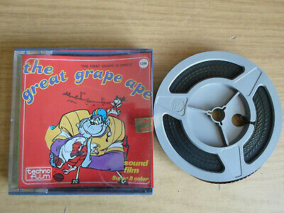 Super 8mm sound 1X200 THE FIRST GRAPE IN SPACE. The Great Grape Ape cartoon.
