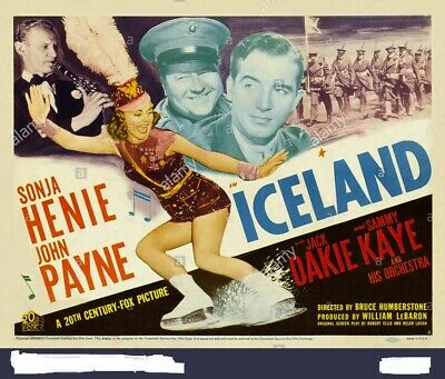 Super 8mm sound 1X50 ICELAND trailer. Sonia Henie 1942 classic.
