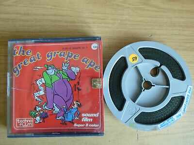 Super 8mm sound 1X200 PUBLIC GRAPE No.1. The Great Grape Ape cartoon.