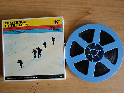 Super 8mm sound 1X200 CHALLENGE OF THE ALPS. Documentary.