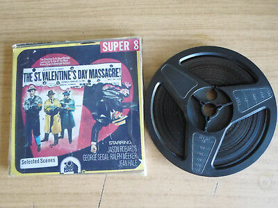 Super 8mm sound 1x200 THE ST VALENTINES DAY MASSACRE. Jason Robards classic.