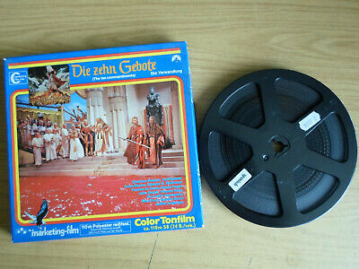 Super 8mm sound 1x400 THE TEN COMMANDMENTS Part 2. Charlton Heston classic.