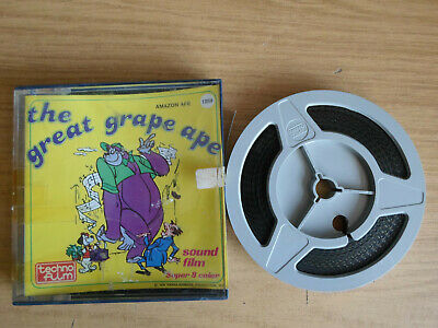 Super 8mm sound 1X200 AMAZON APE. The Great Grape Ape cartoon.