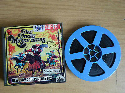 Super 8mm sound 1X200 THE THREE MUSKETEERS. Oliver Reed classic.