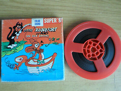 Super 8mm sound 1X200 SEA SICK SAILORS. Little Roquefort & Percy cartoon.