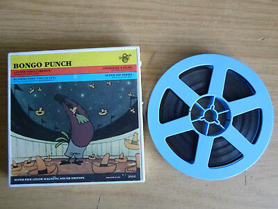 Super 8mm sound 1X200 BONGO PUNCH. A Funny Fable Universal cartoon.
