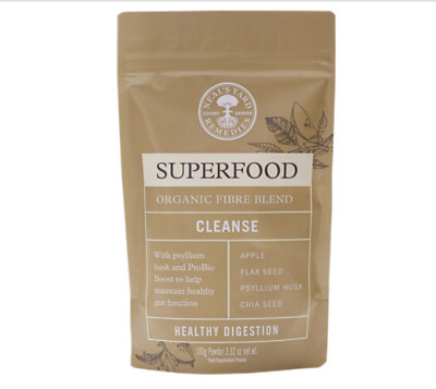 Superfoods Organic Fibre Apple, Flax, Chia, Psyllium Healthy Digestion