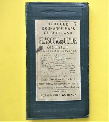 OS Map c1886 GLASGOW & CLYDE DISTRICT  Scotland