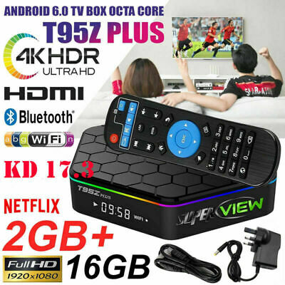 Superview T95Z Plus S912 7.1 Octa Core Android TV Box 5Ghz WIFI UHD 2GB 16GB 4K
