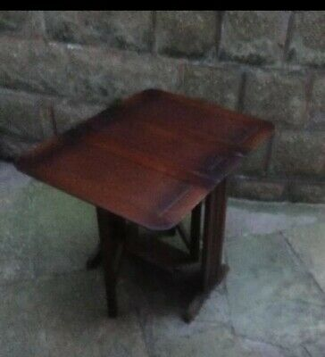 Small Drop leaf occasional table wooden - side table