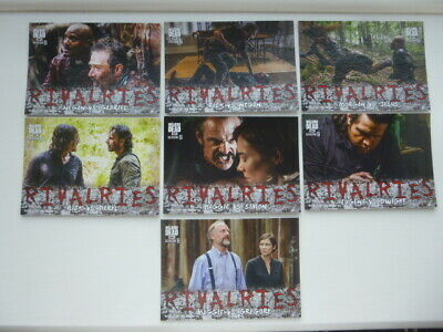 The Walking Dead Season 8 Part 1 Rivalries Complete Chase Card Set R-1 to R-7