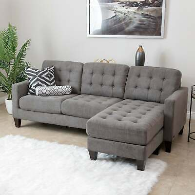 Incredible Abbyson Verona Fabric Sectional Sofa Brown Cream Caraccident5 Cool Chair Designs And Ideas Caraccident5Info