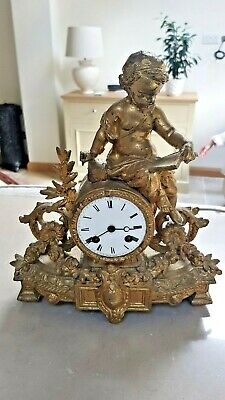 Antique French Mantle Clock - V.r Brevete, Paris