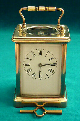 Superb Working Vintage French Carriage Clock + Key