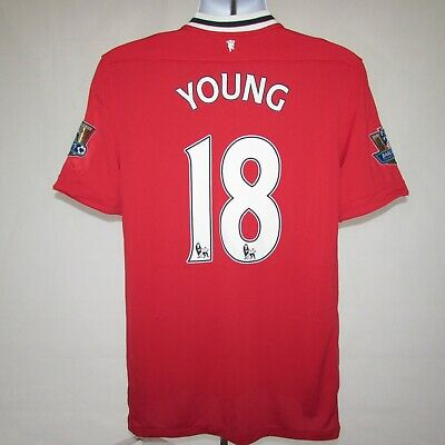 2011-2012 Manchester United Home Shirt Young #18, Nike, Large (Mint Condition)