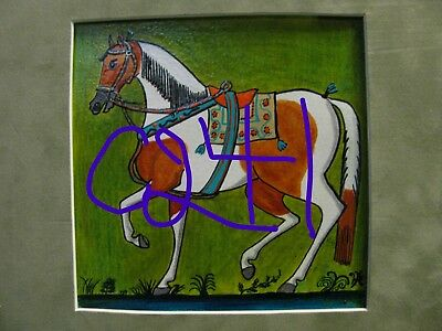 "C241  Original Acrylic Painting By Ljh         ""Parade Horse''"