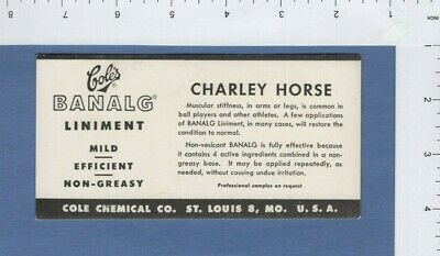 Cole's Banalg Liniment Quack Medicine? Charley Horse Muscular Stiffness Vintage
