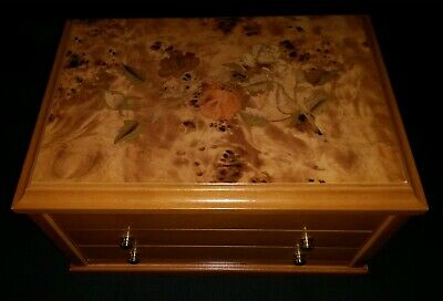 Mele Super Large Jewellery Chest With Inlaid Oriental Rose Marquetry Design