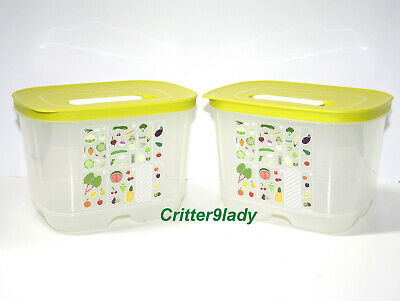 NEW Tupperware Lot of 2 FridgeSmart Small Deep Containers