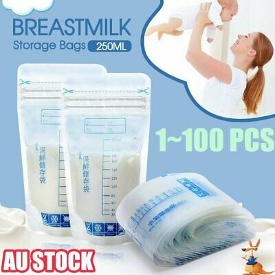 10~100pcs Pre-Sterilised Breastmilk Baby Breast Milk Storage Bags Pouches 4C