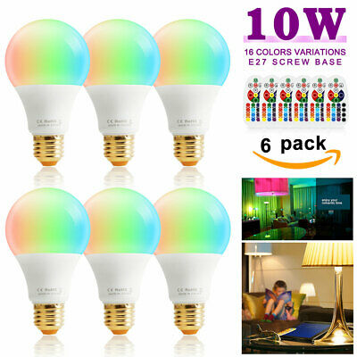 Multi Color Changing 10W E26 RGB LED Light Bulb Memory Magic Lamp+Remote Control