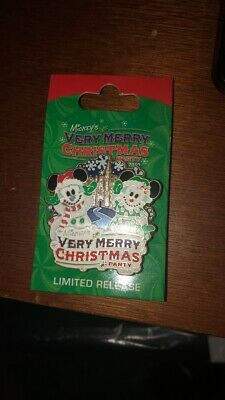 WDW Mickey's Very Merry Christmas Party 2010 Logo Spinner Disney Pin 80739
