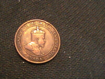 Canada Large Cent King Edward Vii 1909 Little Wear, Good Detail