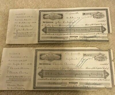 Rare Early Goldfield Nevada First Style St Ives Gold Mining Co Stock Certificate
