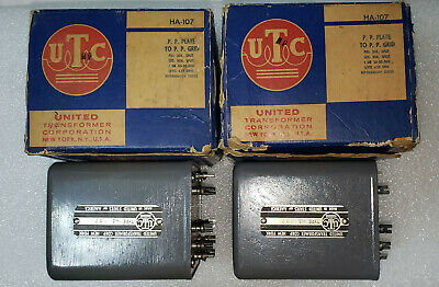 PAIR OF UTC LS-98 High End Filter Choke for 833/845/211 SET