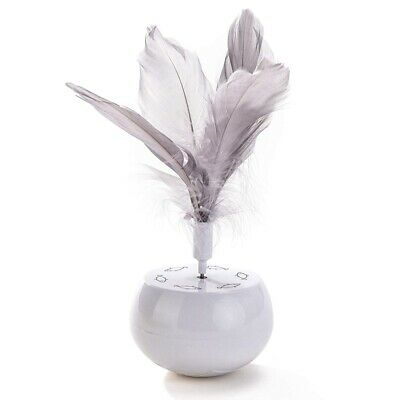 Interactive Cat Spinning Tumbler Feather Toy, Hands-Free, for Adult and Kit C3W4