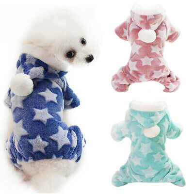 Soft Fleece Dog Clothes Cute Dog Jumpsuit Small Dog Coat Puppy Outfits Hoodie