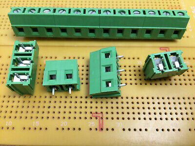 2 Way 3 Way 24Amp 750Volt 7.62mm PCB Terminal Block Stackable 4-12 Way Assembled