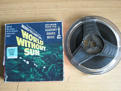 Super 8mm sound 1X200 WORLD WITHOUT SUN. Jacques Cousteau.