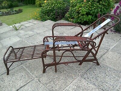 Cool 1920 1930S Bamboo Adjustable Recliner Sun Lounger Machost Co Dining Chair Design Ideas Machostcouk