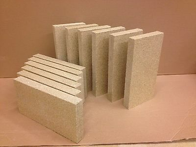 Vermiculite brick 230mm x 114mm x 25mm replacement Fits most Stoves Woodburners