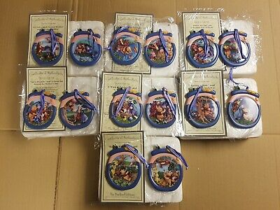 Set of 14 Hanging Ornaments Winnie The Pooh HoneyPot Adventures Bradford Edition