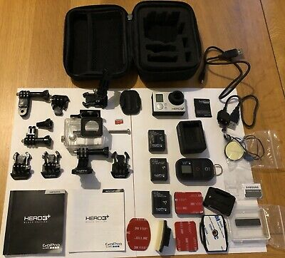 GoPro Hero3+ Black Edition HD 1080p Action with 20+ Accessories, 3 Bat, 32GB MSD