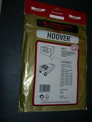 Assortment of VACUUM CLEANER DUST BAGS Packs Include Hoover Original Compact