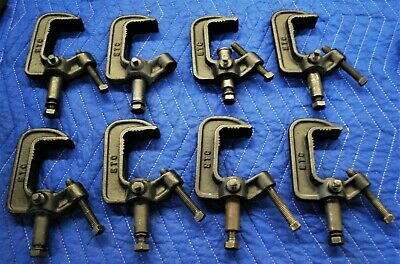 8 Cast Iron C Clamps For Lighting-Heavy Duty Industrial Grade-Etc Brand-5 Of 10