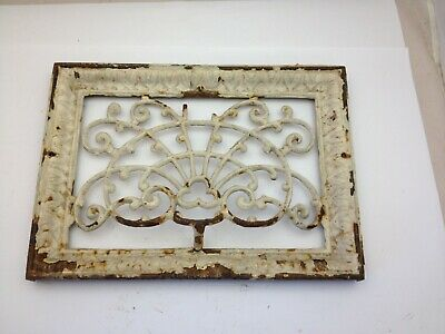 Antique Cast Iron Victorian Heat Register Cover Ornate Grate Vent Pat. 1903