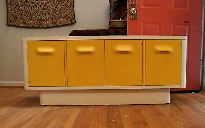 Mid Century Modern Yellow Broyhill Chapter One Credenza Dresser Space Age Panton