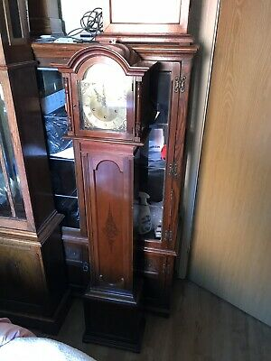 Stunning Mahogany Cased Peerless/lenzkirch Westminster Chimes Grandmother Clock