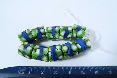 10 Millefiori Glasperlen AW47 10 Trade Beads Murrine Perles Afrozip