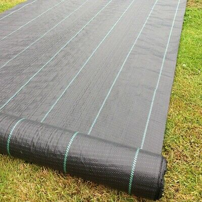 5m Wide Yuzet 100gsm HV Duty Ground Cover Weed Control Fabric membrane Driveway