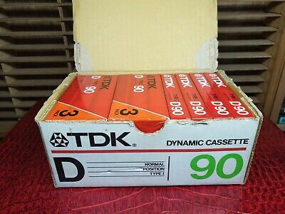 TDK D90 (×10) + Original Box : 1985 : MADE IN JAPAN : NEW & SEALED