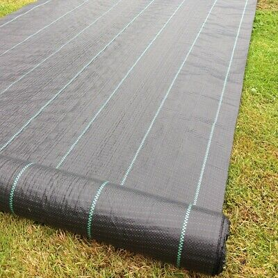5m Wide Yuzet 100gsm Horticultural  Ground Cover Weed Control Fabric Driveway