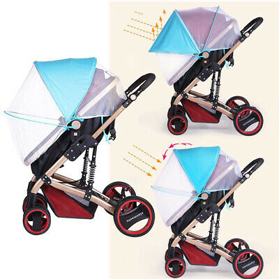 Baby Kids Stroller Mosquito Net Sun Shade Canopy Fit Pram Bassinet Seat Cover US