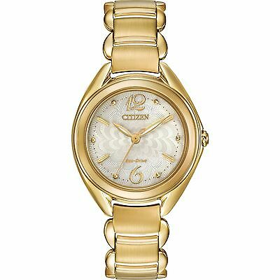Citizen Eco-Drive Silhouette Women's Gold-Tone Ivory Dial 31mm Watch FE2072-89A